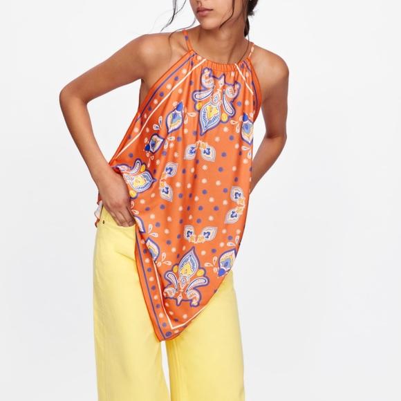 Zara Handkerchief Top M